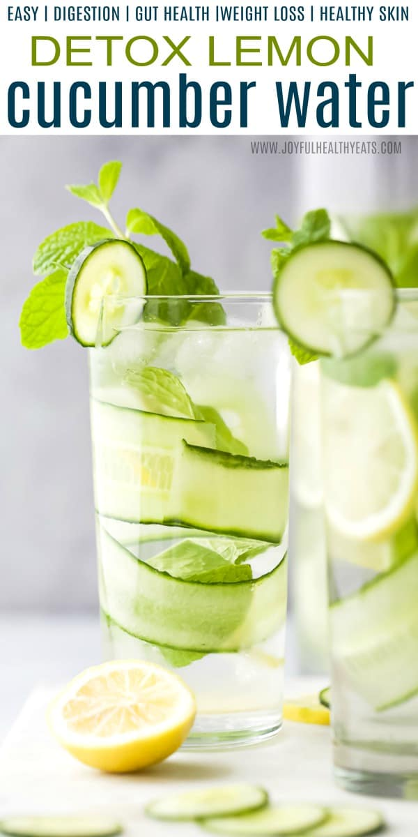 The Benefits of Cucumber Water Recipes